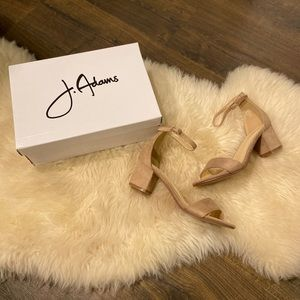 J.Adams Nude Strappy Kitten Heels